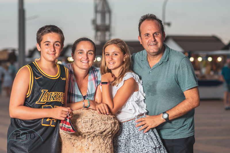 sesión fotográfica familiar por Salou
