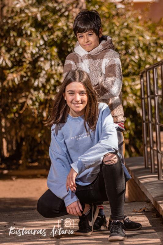 sesión fotográfica familiar de Aisha y Natalia